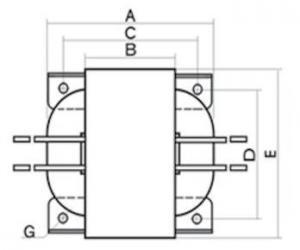 R型铁芯变压器结构图